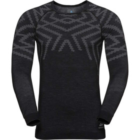 Odlo Suw Natural + Kinship LS Top Crew Neck Herren black melange